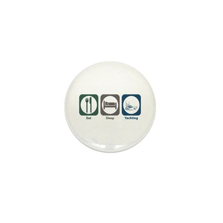 Eat Sleep Yachting Mini Button (100 pack)