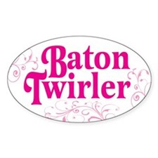 Baton Twirler Oval Decal