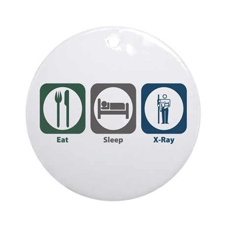 Eat Sleep X-Ray Ornament (Round)