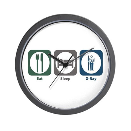 Eat Sleep X-Ray Wall Clock