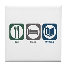 Eat Sleep Writing Tile Coaster