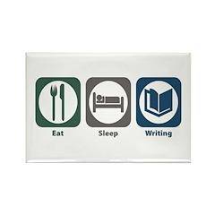 Eat Sleep Writing Rectangle Magnet