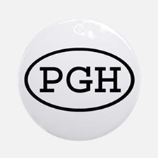 PGH Oval Ornament (Round)