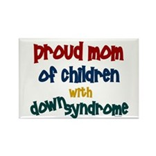 Proud Mom....2 (Children DS) Rectangle Magnet
