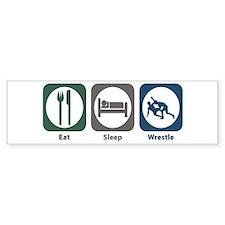 Eat Sleep Wrestle Bumper Bumper Sticker