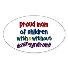 Proud Mom....2 (With & Without DS) Oval Decal