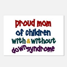 Proud Mom....2 (With & Without DS) Postcards (Pack