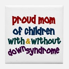 Proud Mom....2 (With & Without DS) Tile Coaster