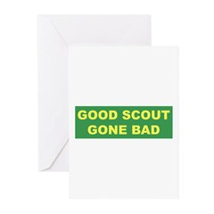 Good Scout Gone Bad (Green) Greeting Cards (Packag