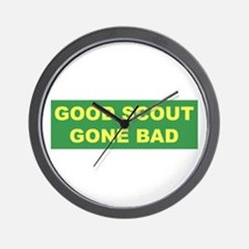 Good Scout Gone Bad (Green) Wall Clock