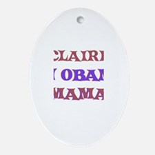 Claire - An Obama Mama Oval Ornament