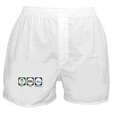 Eat Sleep Woodworking Boxer Shorts