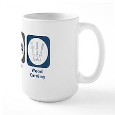 Eat Sleep Wood Carving Mug