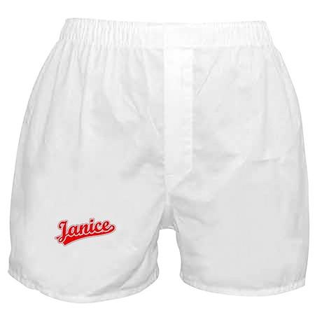 Retro Janice (Red) Boxer Shorts