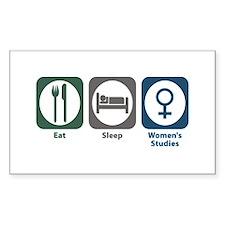 Eat Sleep Women's Studies Rectangle Decal