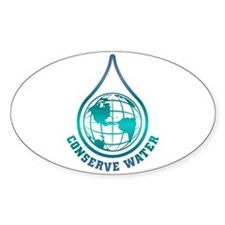 Conserve Water Oval Decal