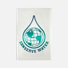 Conserve Water Rectangle Magnet