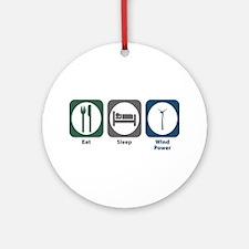 Eat Sleep Wind Power Ornament (Round)