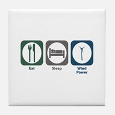 Eat Sleep Wind Power Tile Coaster
