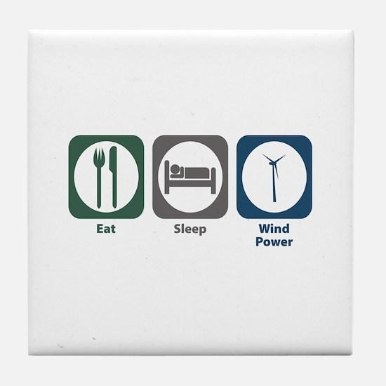 Eat Sleep Wind Power Tile Coaster