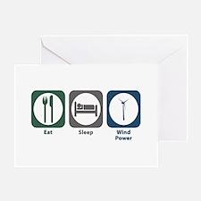 Eat Sleep Wind Power Greeting Card