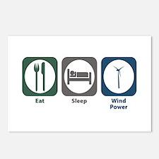 Eat Sleep Wind Power Postcards (Package of 8)