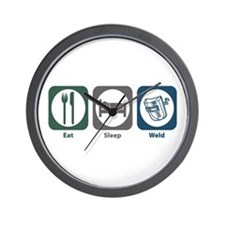 Eat Sleep Weld Wall Clock