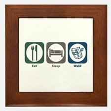 Eat Sleep Weld Framed Tile
