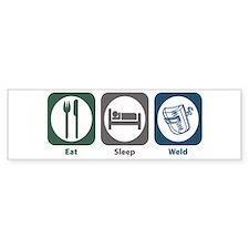 Eat Sleep Weld Bumper Car Sticker