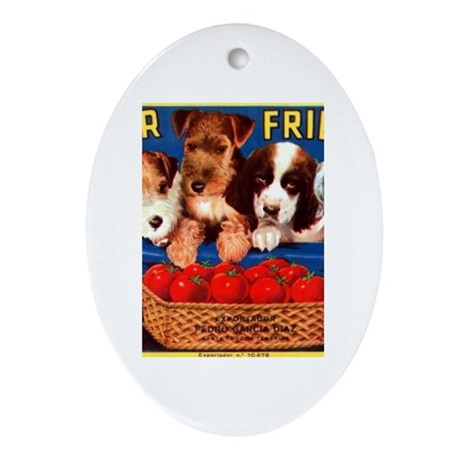 Four Friends Oval Ornament