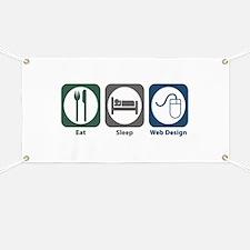 Eat Sleep Web Design Banner