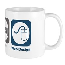 Eat Sleep Web Design Mug