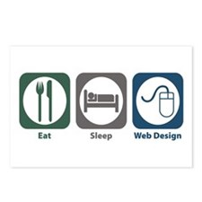 Eat Sleep Web Design Postcards (Package of 8)