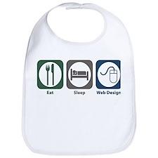 Eat Sleep Web Design Bib