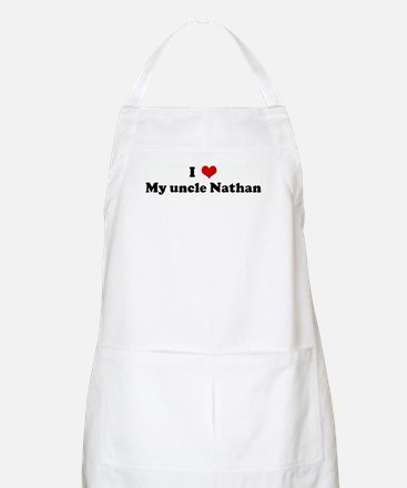 I Love My uncle Nathan BBQ Apron