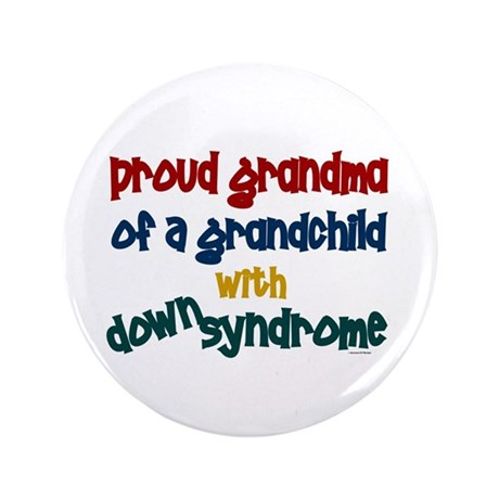 "Proud Grandma....2 (Grandchild DS) 3.5"" Button"