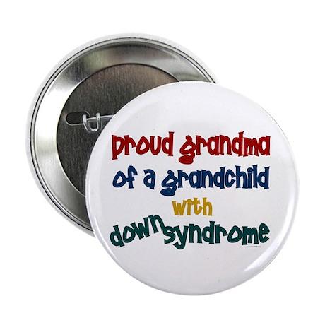 """Proud Grandma....2 (Grandchild DS) 2.25"""" Button"""