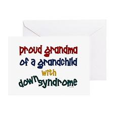 Proud Grandma....2 (Grandchild DS) Greeting Card