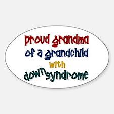 Proud Grandma....2 (Grandchild DS) Oval Decal