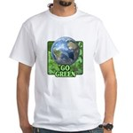 Go Green White T-Shirt
