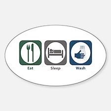 Eat Sleep Wash Oval Decal