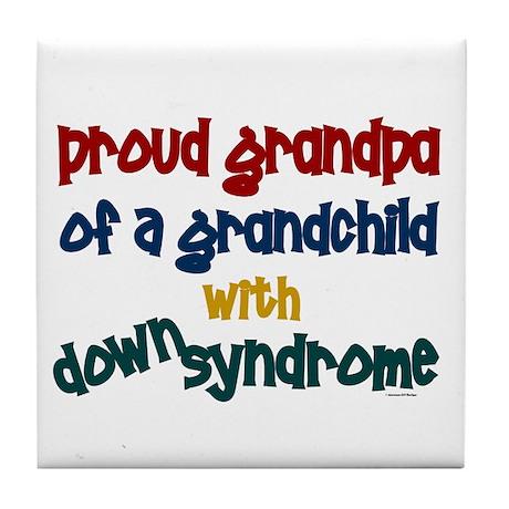 Proud Grandpa....2 (Grandchild DS) Tile Coaster