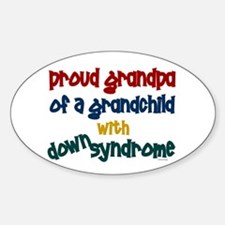 Proud Grandpa....2 (Grandchild DS) Oval Decal