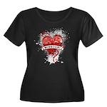 Heart Missouri Women's Plus Size Scoop Neck Dark T