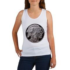 Silver Indian Head Women's Tank Top