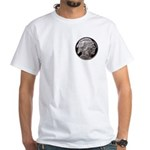 Silver Indian Head White T-Shirt