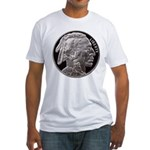 Silver Indian Head Fitted T-Shirt