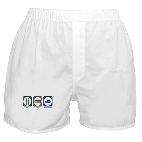 Eat Sleep Volunteer Boxer Shorts
