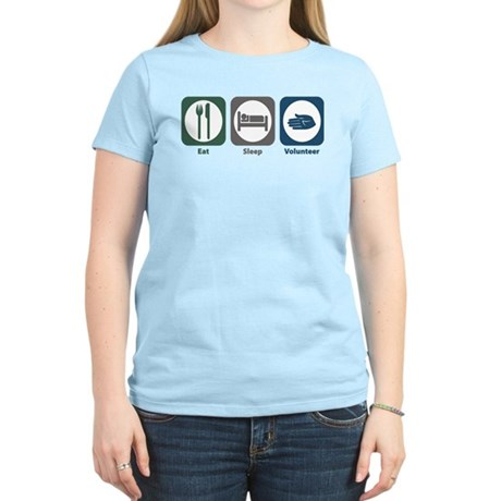 Eat Sleep Volunteer Women's Light T-Shirt