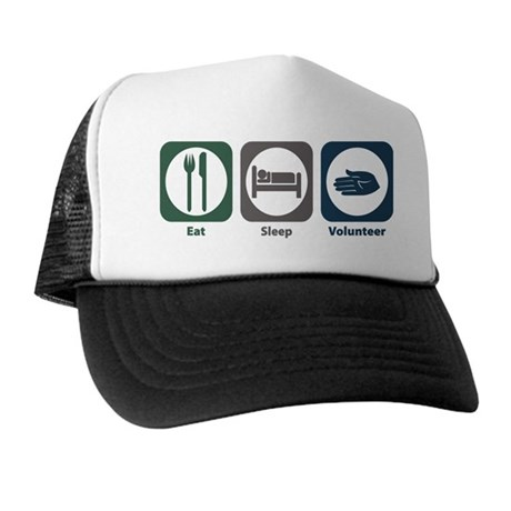 Eat Sleep Volunteer Trucker Hat